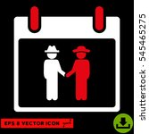 gemtlemen handshake calendar... | Shutterstock .eps vector #545465275
