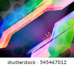 abstract translucent colors... | Shutterstock .eps vector #545467012