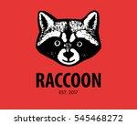 sign of raccoon. wild animal... | Shutterstock .eps vector #545468272