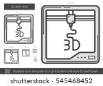three d print vector line icon... | Shutterstock .eps vector #545468452