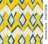 seamless ikat zigzag pattern | Shutterstock .eps vector #545472838