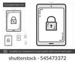 encrypted data vector line icon ...   Shutterstock .eps vector #545473372