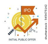 ipo  initial public offering ... | Shutterstock .eps vector #545475142