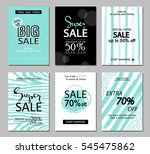 set of social media sale... | Shutterstock .eps vector #545475862