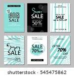 set of social media sale... | Shutterstock .eps vector #545475862