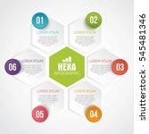 infographics six hexagons... | Shutterstock .eps vector #545481346