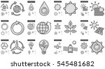 ecology vector line icon set... | Shutterstock .eps vector #545481682