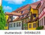 colorful facades of houses in... | Shutterstock . vector #545486155