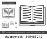 student book vector line icon... | Shutterstock .eps vector #545489242