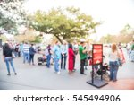 blurred long people queuing in... | Shutterstock . vector #545494906