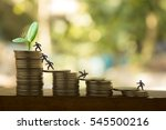 stack of coins with join or... | Shutterstock . vector #545500216