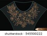 embellishment hot fix stud... | Shutterstock .eps vector #545500222