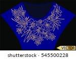 embellishment hot fix stud... | Shutterstock .eps vector #545500228