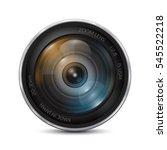 camera photo lens on a white... | Shutterstock .eps vector #545522218