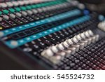 digital mixing console | Shutterstock . vector #545524732