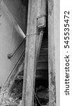 the destroyed door | Shutterstock . vector #545535472