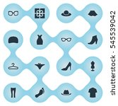 set of 16 simple wardrobe icons....