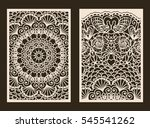 set of 2 wedding invitation or... | Shutterstock .eps vector #545541262