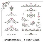 original frames and scroll... | Shutterstock .eps vector #545549206