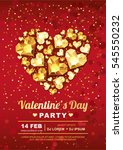 valentines day party vector... | Shutterstock .eps vector #545550232
