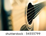 detail of classic guitar with... | Shutterstock . vector #54555799