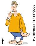 cartoon illustration of giant...   Shutterstock .eps vector #545573098