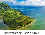 Aerial View Of Kualoa Point At...