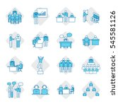 business people icon set vector ... | Shutterstock .eps vector #545581126