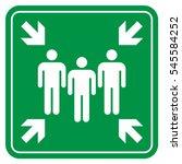 assembly point | Shutterstock .eps vector #545584252