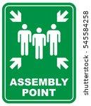 assembly point | Shutterstock .eps vector #545584258