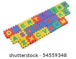 multi colored alphabet puzzle... | Shutterstock . vector #54559348