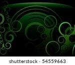 green swirl abstract background | Shutterstock .eps vector #54559663