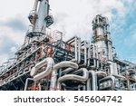 industrial zone the equipment... | Shutterstock . vector #545604742