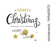 merry christmas lettering... | Shutterstock .eps vector #545605072