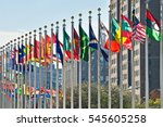 flags of all nations outside... | Shutterstock . vector #545605258