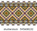embroidered old handmade cross...   Shutterstock .eps vector #545608132