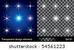transparent stars | Shutterstock .eps vector #54561223