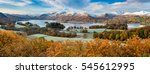 beautiful view of derwentwater... | Shutterstock . vector #545612995