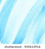 blue white watercolor hand... | Shutterstock . vector #545613916