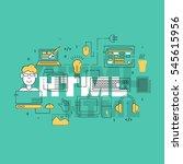 html coder creative banner.... | Shutterstock . vector #545615956
