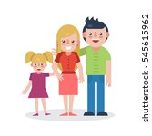 young parents flat illustration.... | Shutterstock . vector #545615962