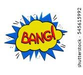 pop art logo. pop art bang logo.... | Shutterstock . vector #545615992