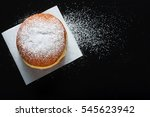 donut and powdered sugar on... | Shutterstock . vector #545623942
