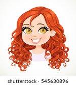 beautiful brunette girl with... | Shutterstock .eps vector #545630896
