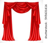red curtain draped with pelmet... | Shutterstock .eps vector #545631616