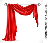 red asymmetric curtains on the... | Shutterstock .eps vector #545631646