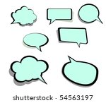speech and thought bubbles | Shutterstock .eps vector #54563197