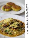 ragda pattice   mumbai street... | Shutterstock . vector #545633578