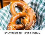 bavarian oktoberfest salted... | Shutterstock . vector #545640832
