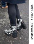 paris january 27  2015. shoes... | Shutterstock . vector #545644306